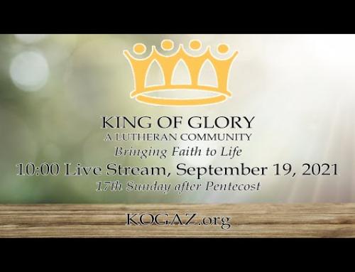 10:00am 09-19-21 KOG Live Stream